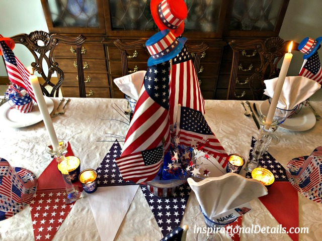 U.S. flag tablescape ideas