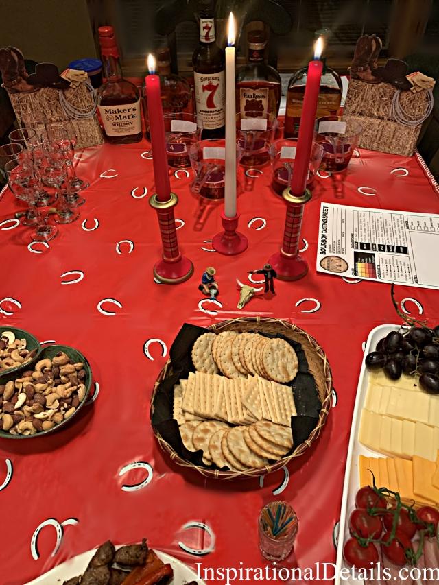 bourbon tasting dinner party