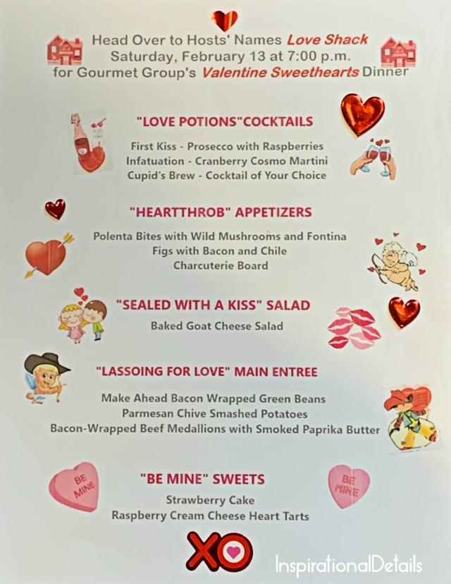valentine's day dinner menu ideas